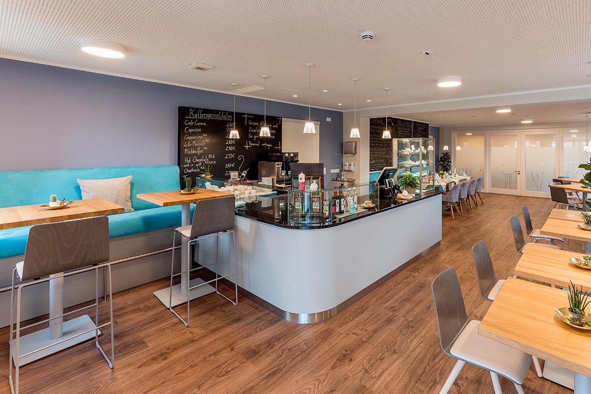 Blick ins Café Gusto Magdeburg