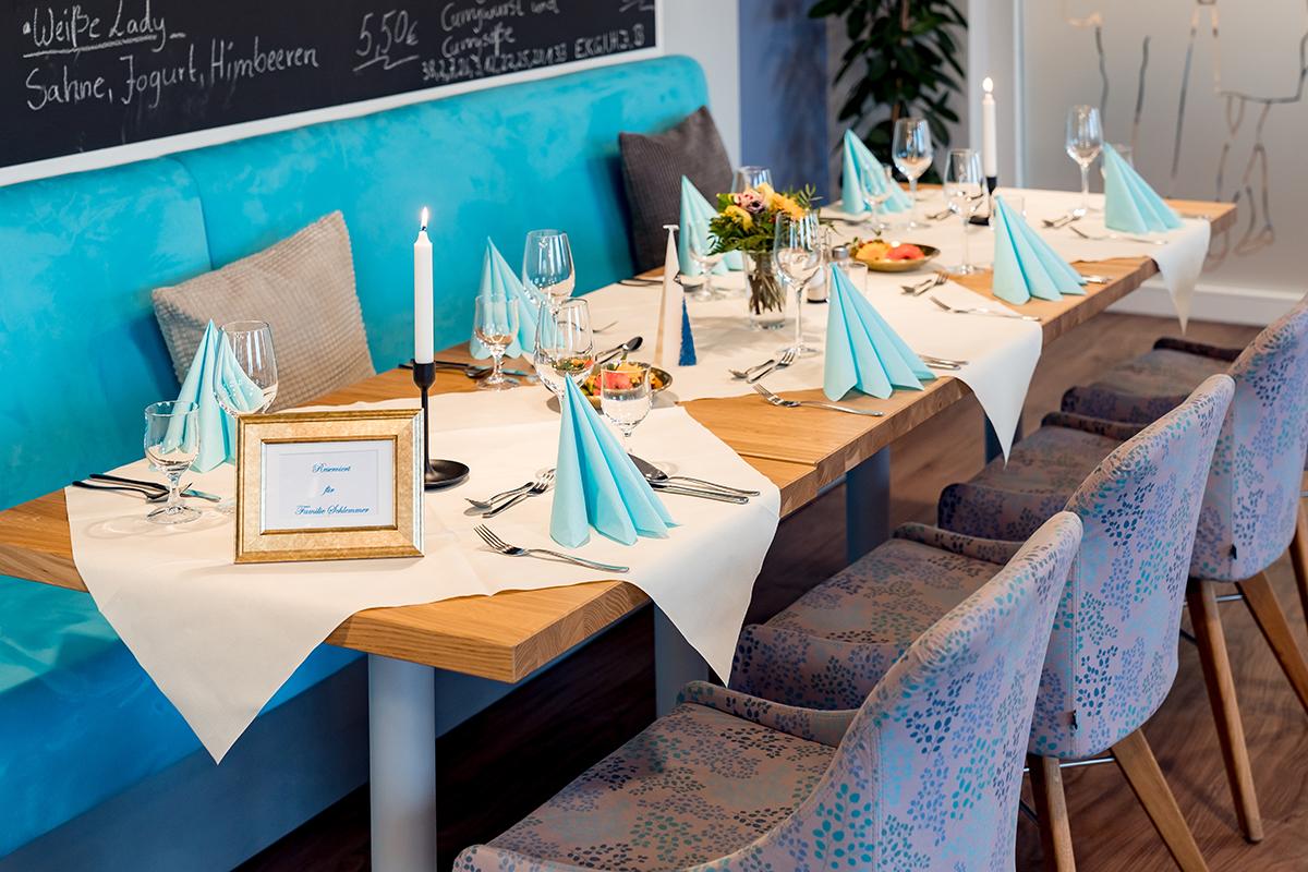 Tischdekoration Café Gusto Magdeburg